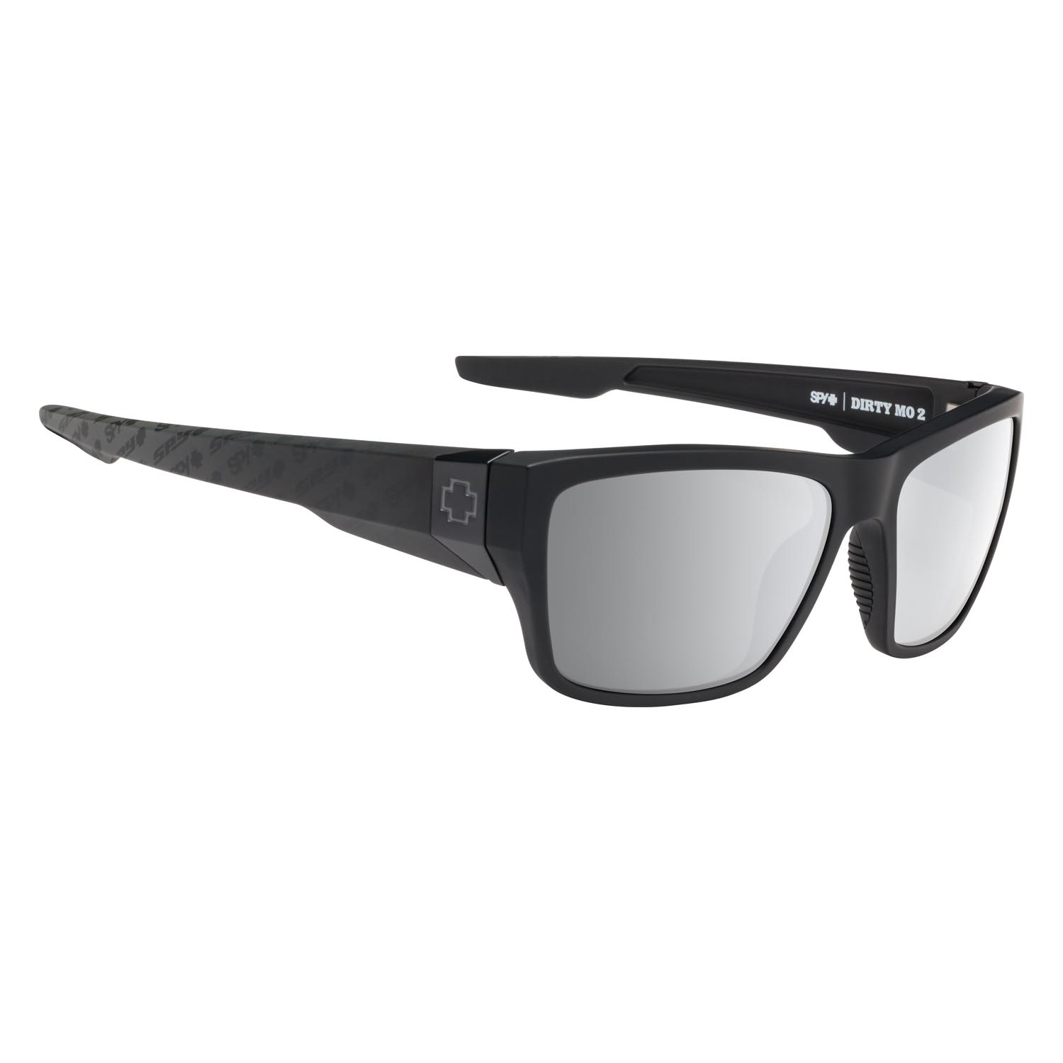 Spy Sunglasses Dirty Mo 2 in matte black with silver spectra