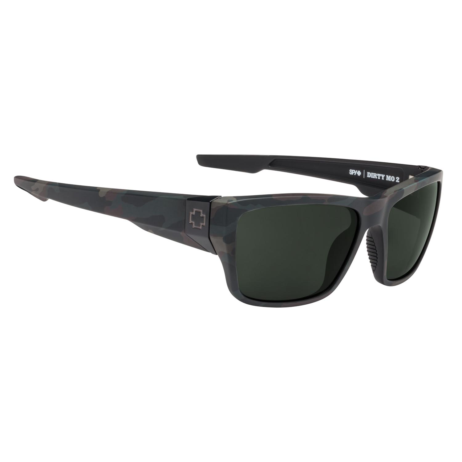 Spy Sunglasses Dirty Mo 2 in matte camo with gray polarized lenses