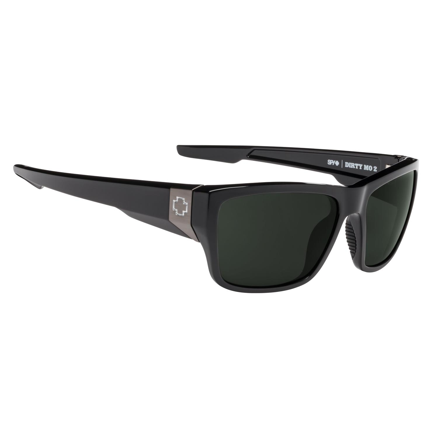 Spy Sunglasses Dirty Mo 2 in Shiny Black with Gray lenses