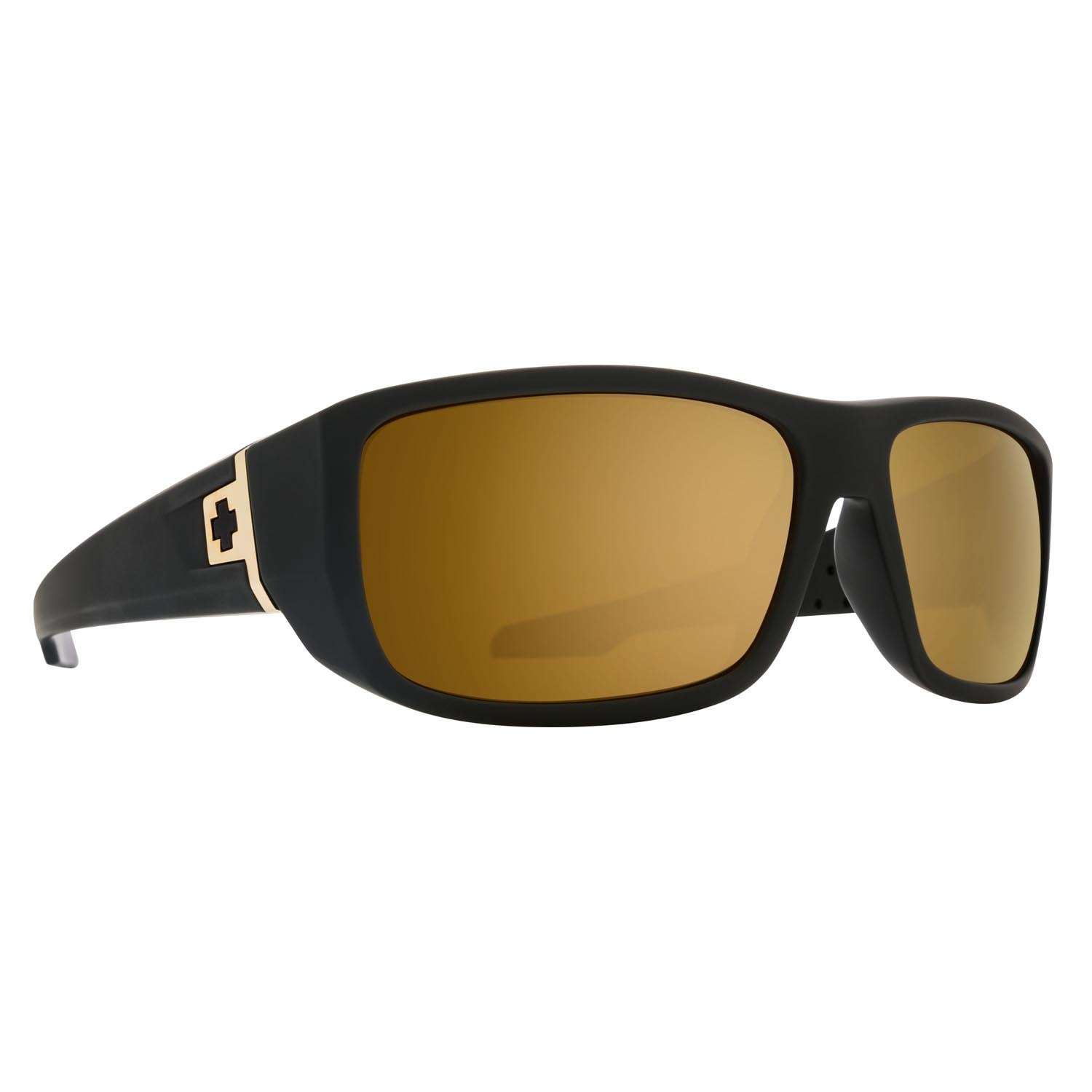 Spy Sunglasses mc3 in matte black with bronze gold spectra