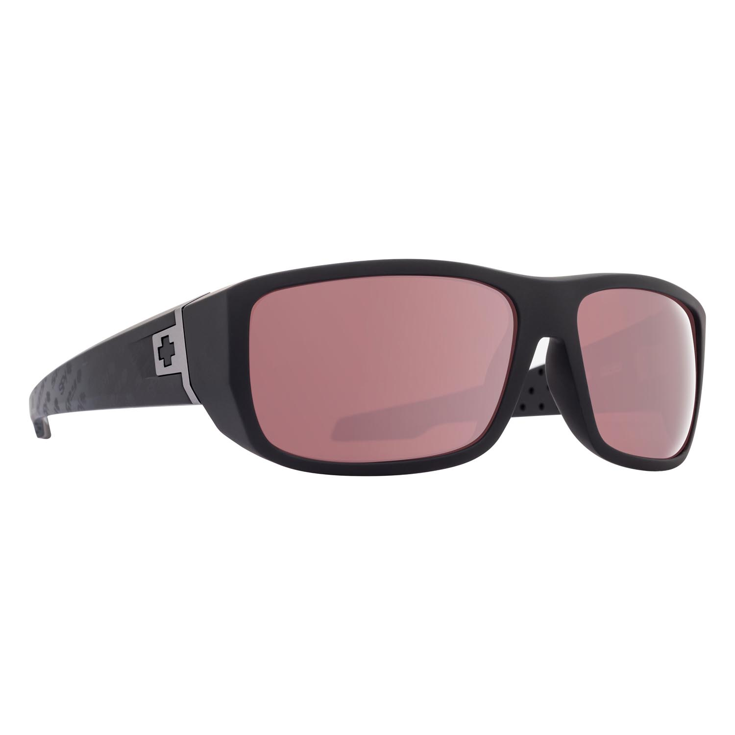 Spy Sunglasses mc3 in matte black with rose silver mirror polarized lenses