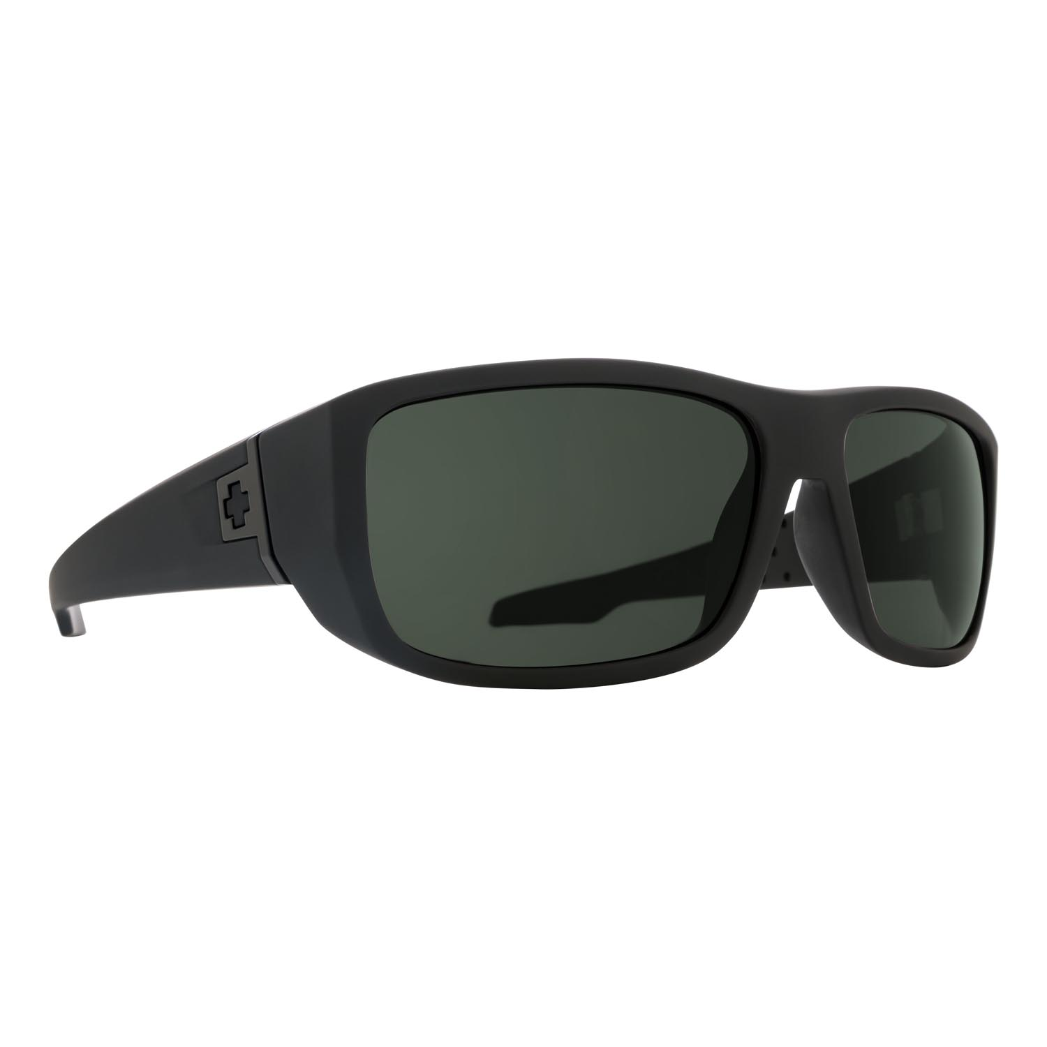 Spy Sunglasses mc3 in soft matte black with gray green polarized lenses