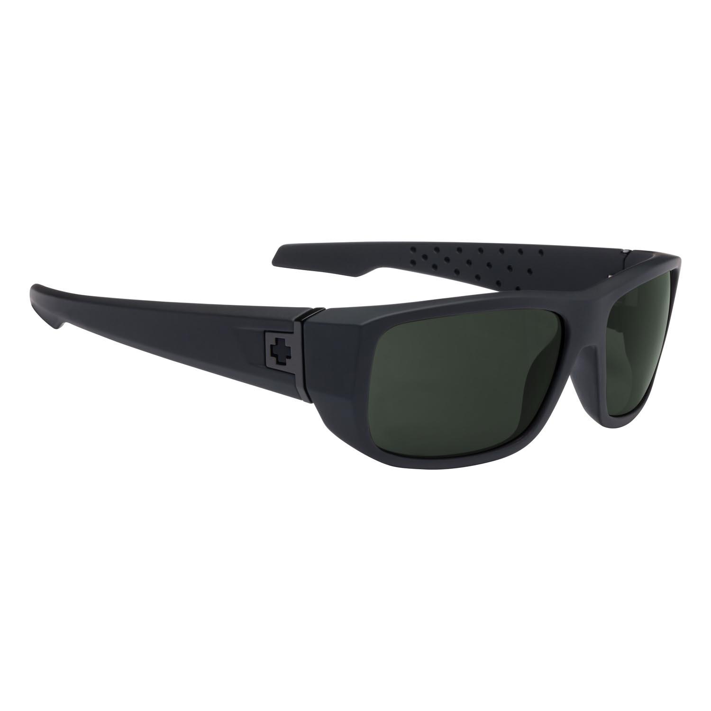 Spy Sunglasses mc3 in soft matte black with gray green polarized lenses